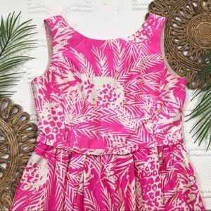 Taylor Pink Tropical Print Dress